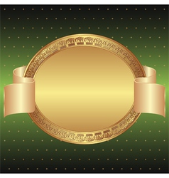 green and gold background vector image