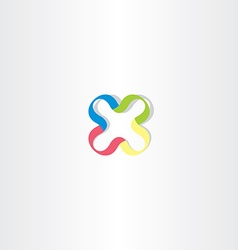 logotype x colorful logo letter x icon vector image vector image