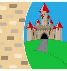 medieval cartoon castle vector image vector image