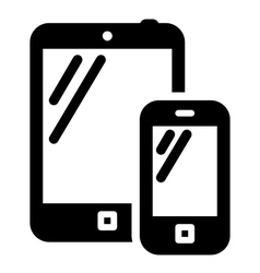Phone and tablet sign vector image vector image