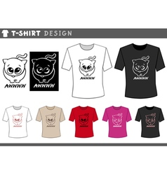 t shirt design with adorable cat vector image vector image