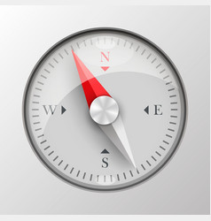 3d compass on white background vector image