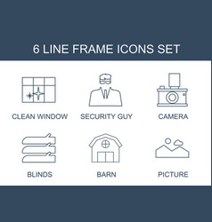 6 frame icons vector