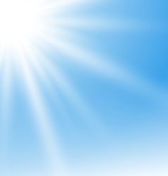 Abstract Blue Background with Sun Rays vector