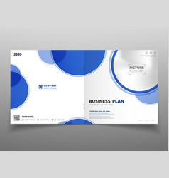 abstract technology gradient blue circle brochure vector image