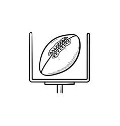 American football goal hand drawn outline doodle vector
