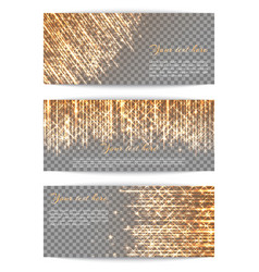 banners with bright golden rays vector image