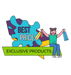 best price exclusive products banner for sale vector image