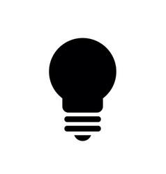 black bulb shape silhouette vector image