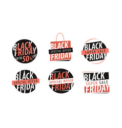 Black friday banner sale closeout shopping vector