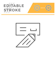 check editable stroke line icon vector image
