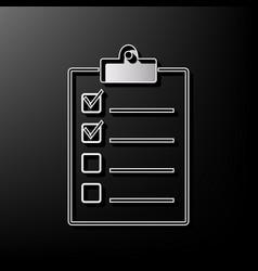 checklist sign gray 3d vector image