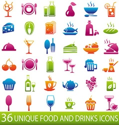 ColorFoodicons vector image