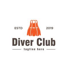 diver club logo design inspiration vector image