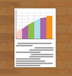 document chart vector image