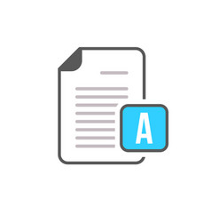 document file page text icon vector image