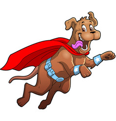 dog superhero pet cartoon clipart vector image
