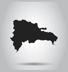 dominican republic map black icon on white vector image