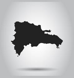 dominican republic map black icon on white vector image