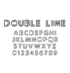double line font vector image