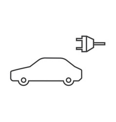 electric car icon isolated on white background vector image