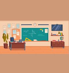 empty school or college classroom interior vector image