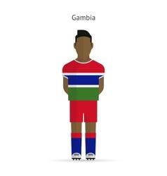 Gambia football player Soccer uniform vector