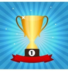 Gold trophy cup winner vector