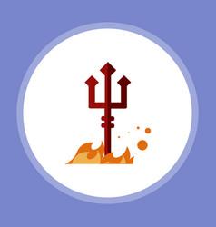 halloween evil fork icon sign symbol vector image