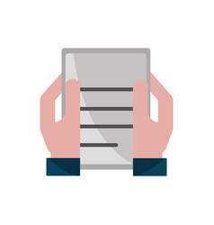 Hands with document property intellectual vector