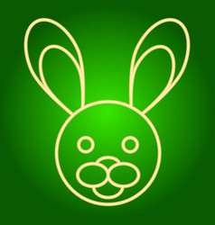 Head of the easter bunny icon vector