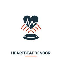Heartbeat sensor icon from sensors icons vector