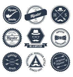 Hipster labels set vector image