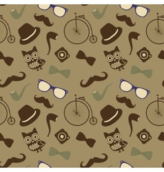 Hipster Retro Vintage Seamless Pattern vector