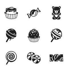 Holiday candy icon set simple style vector