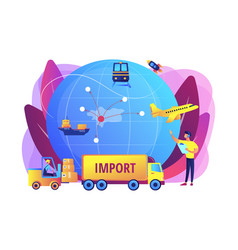 Import goods and services concept vector