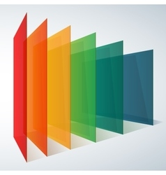 Infographics 3d perspective rainbow transparent vector image