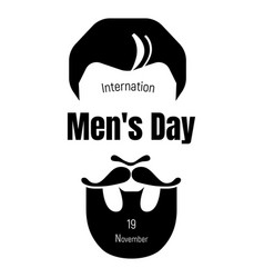 International mens day icon simple style vector