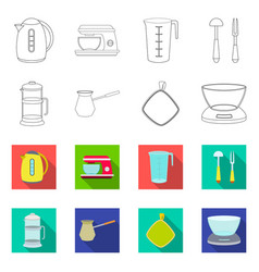 isolated object of kitchen and cook logo vector image