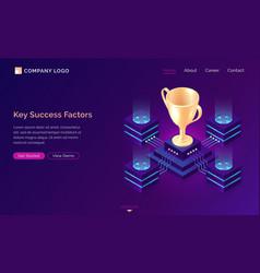 key success factors isometric business concept vector image