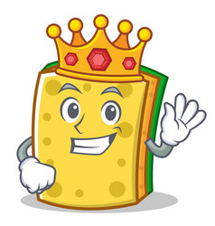 King sponge cartoon character funny vector