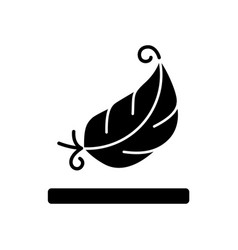 Lightweight fabric property black glyph icon vector