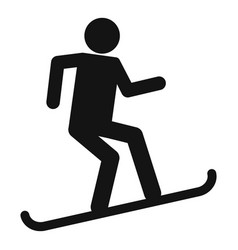 man snowboard icon simple style vector image