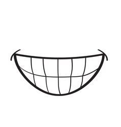 mouth concept represented by smile cartoon vector image