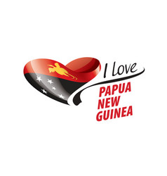 National flag papua new guinea in shape vector