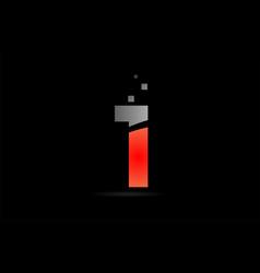 orange grey on black background number 1 for logo vector image