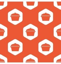 Orange hexagon pan pattern vector