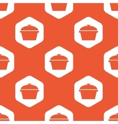 Orange hexagon pan pattern vector image