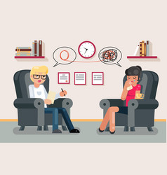 Psychologist consultation solving mental problems vector