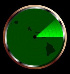 radar on hawaii vector image